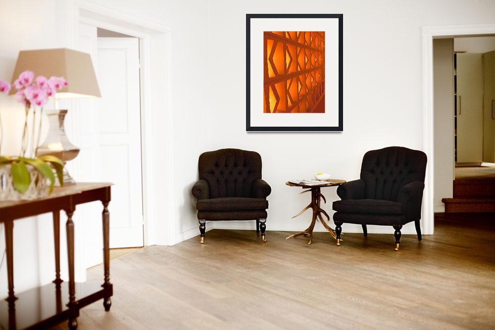 """""""Abstract Wall in Orange&quot  (2009) by Corbett"""