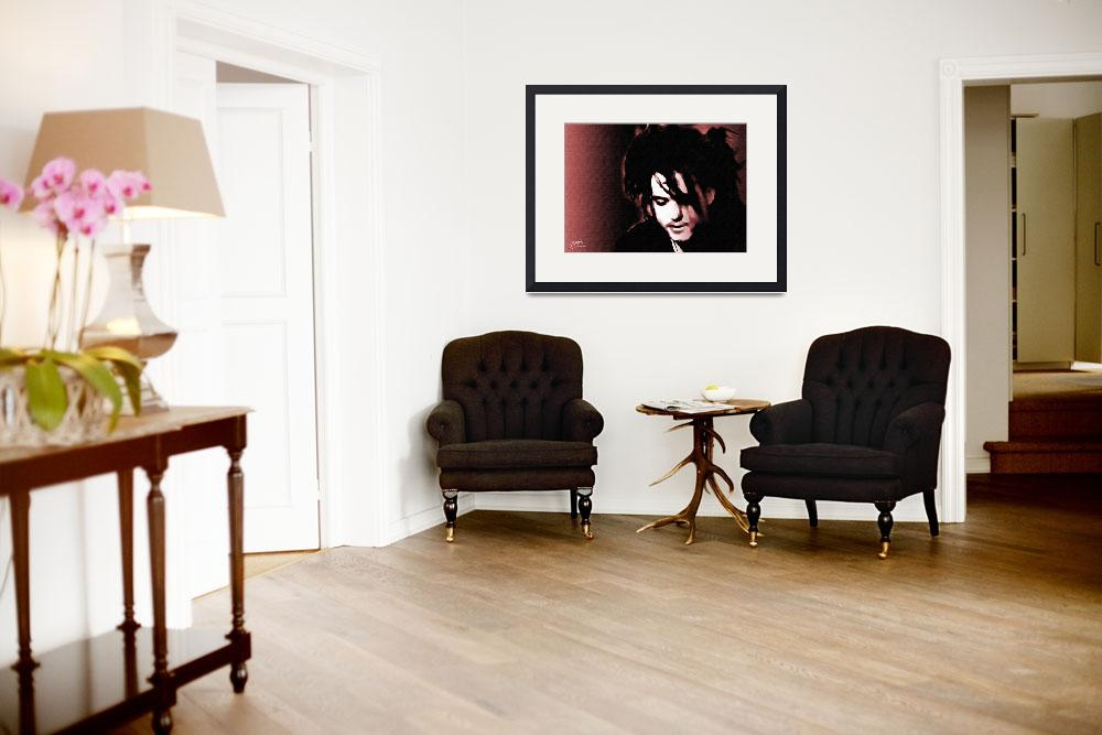 """""""Robert Smith, The Cure - fine art giclee print&quot  (2007) by positiveID"""