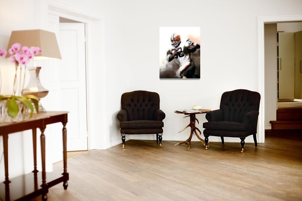 """Jim Brown NFL Cleveland Browns Art by E. Vela""  (2012) by artofvela"