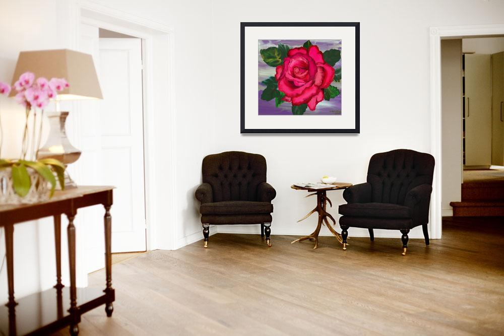"""""""Red Rose Abstract lavender&quot  (2008) by scrapydapy"""