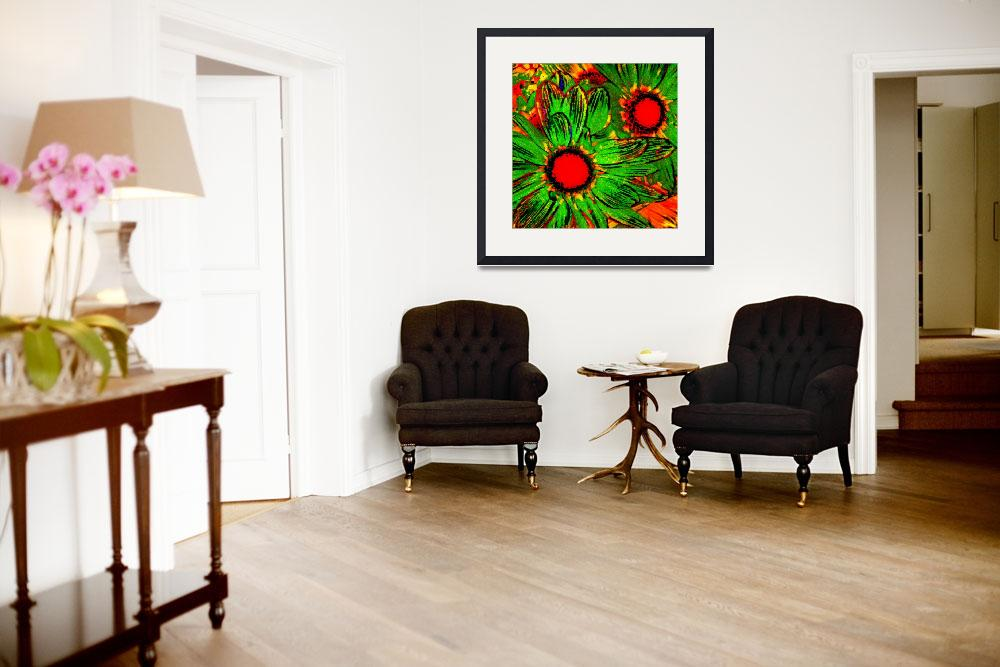"""""""Pop Daisies 3&quot  (2012) by AmyVangsgard"""