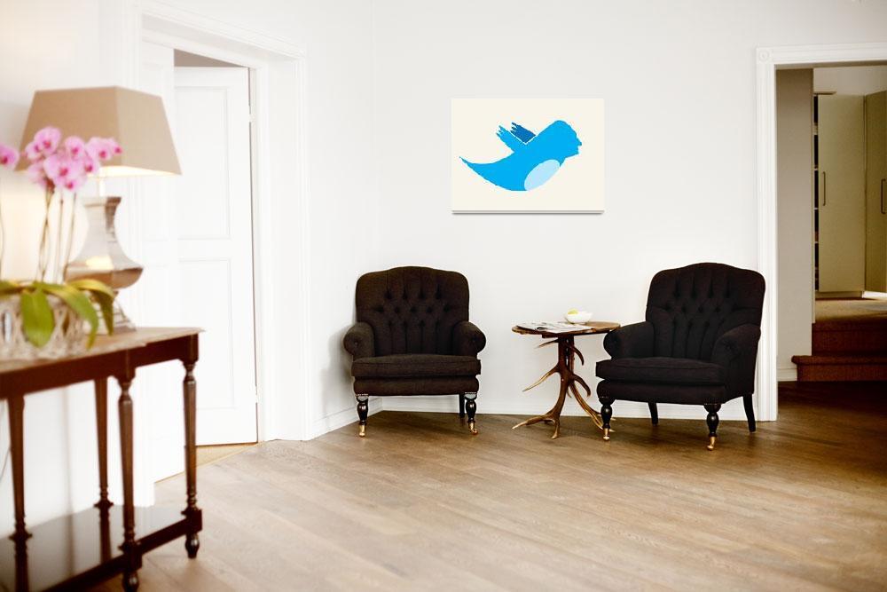 """Twitter George Washington""  (2012) by RubinoFineArt"