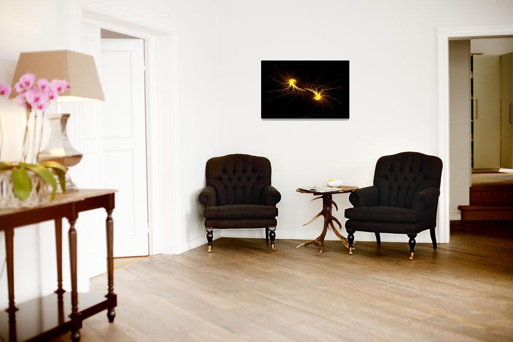 """Twin Flames - Fractal Art&quot  (2008) by LeahMcNeir"