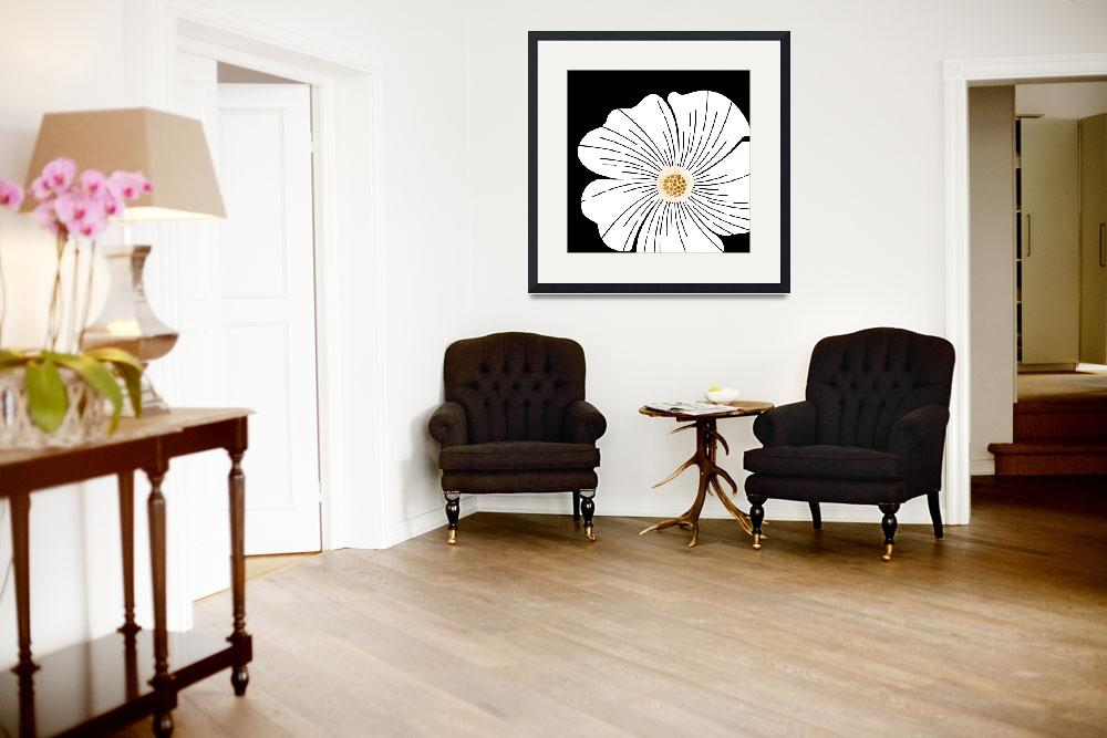 """""""Black and White Wildflower""""  (2018) by moderntropical"""