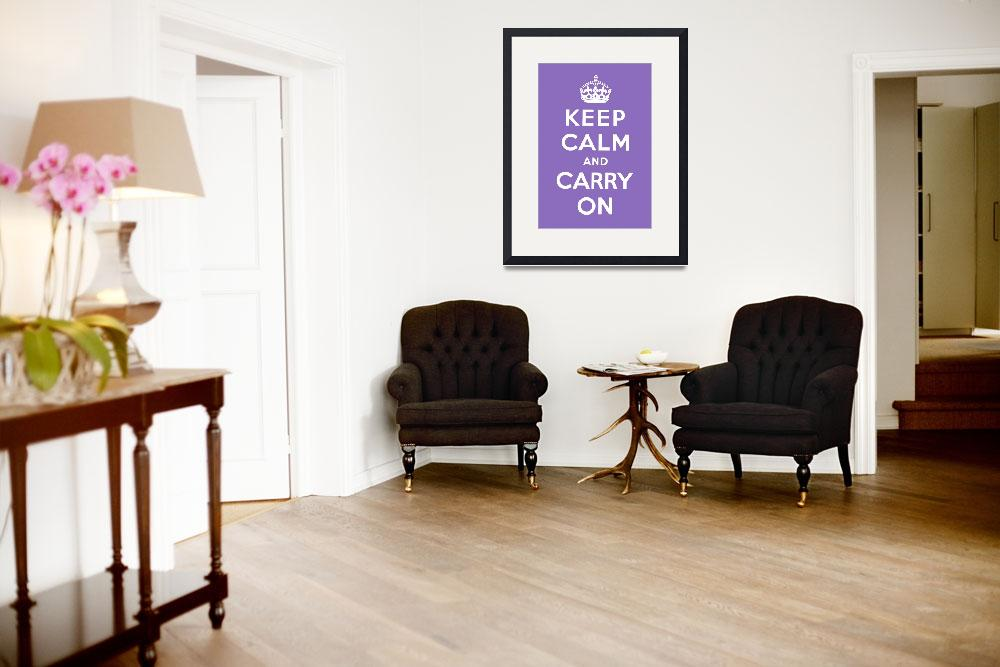 """""""Purple Keep Calm And Carry On 2&quot  by oldies"""