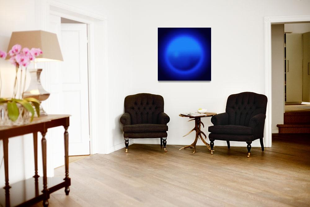 """""""Blue ball abstract""""  (2007) by Morganhowarth"""