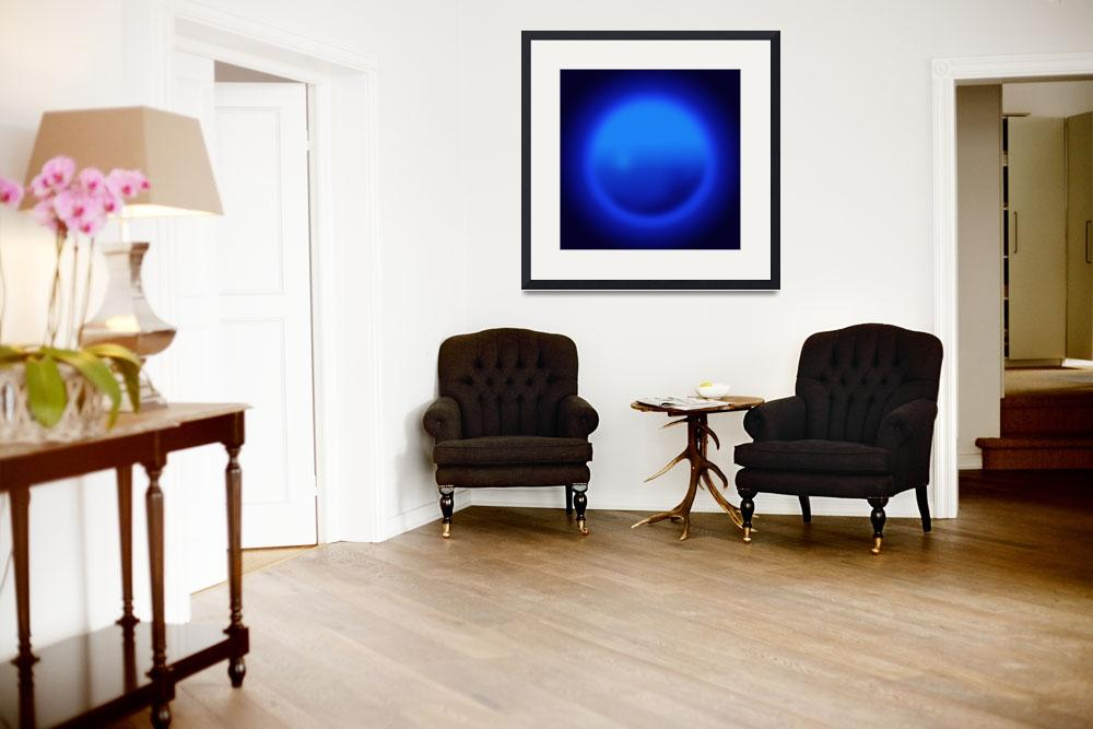 """""""Blue ball abstract&quot  (2007) by Morganhowarth"""
