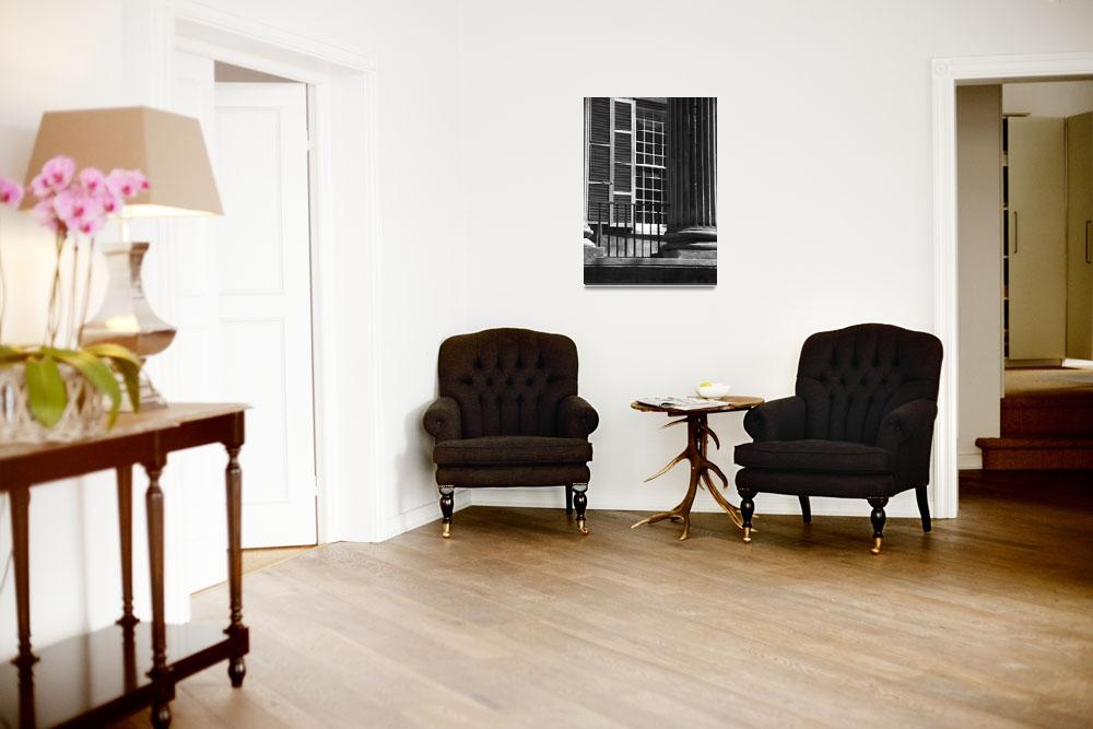 """""""Randolph Hall Columns & Shutters&quot  by PadgettGallery"""