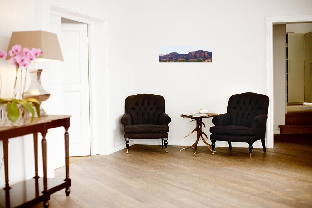"""Boulder Colorado Flatirons 1st Light Panorama&quot  (2011) by lightningman"