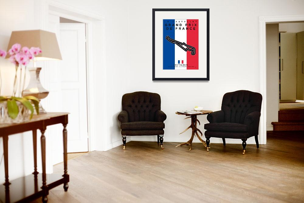 """""""My F1 France Race Track Minimal Poster&quot  by Chungkong"""