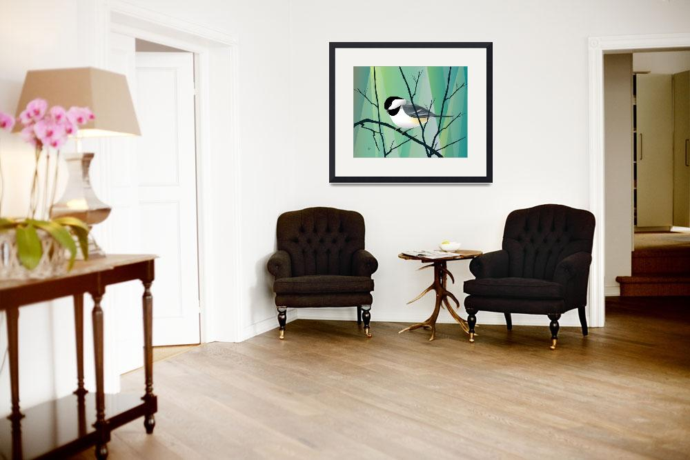"""""""chickadee Abstract""""  by waterart"""