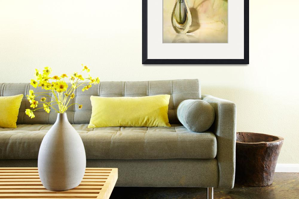 """""""Glass Vase With Calla Lilies""""  (2008) by cfu1"""