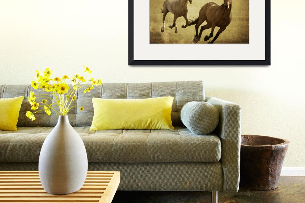 """""""Galloping Horses&quot  (2010) by EdmundLowe"""
