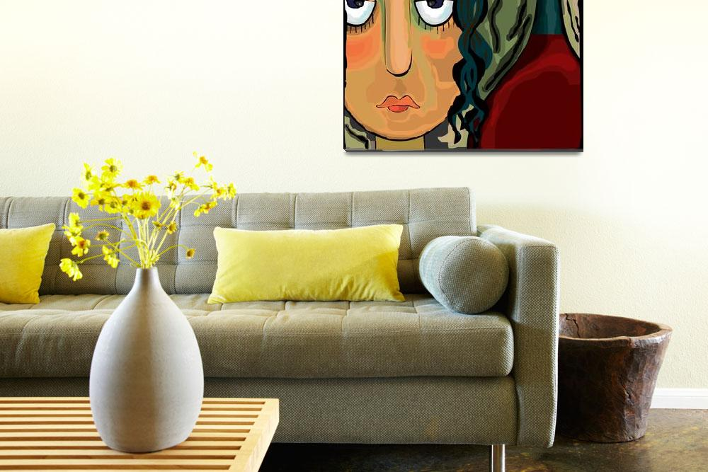 """""""Abstract girl""""  (2009) by digitalpainting"""