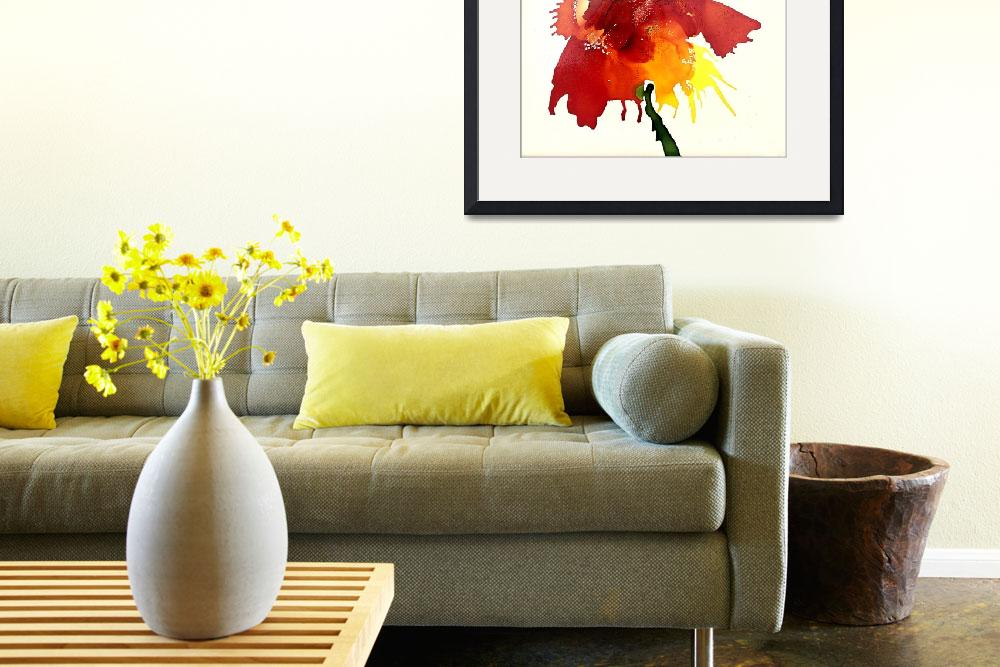 """""""Abstract Contemporary Floral Art Painting&quot  by AngelaKellyArt"""