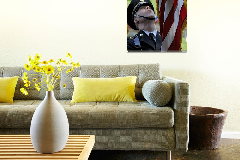 """""""Military Color Guard Adjust American Flag&quot  by McallenPhotography"""
