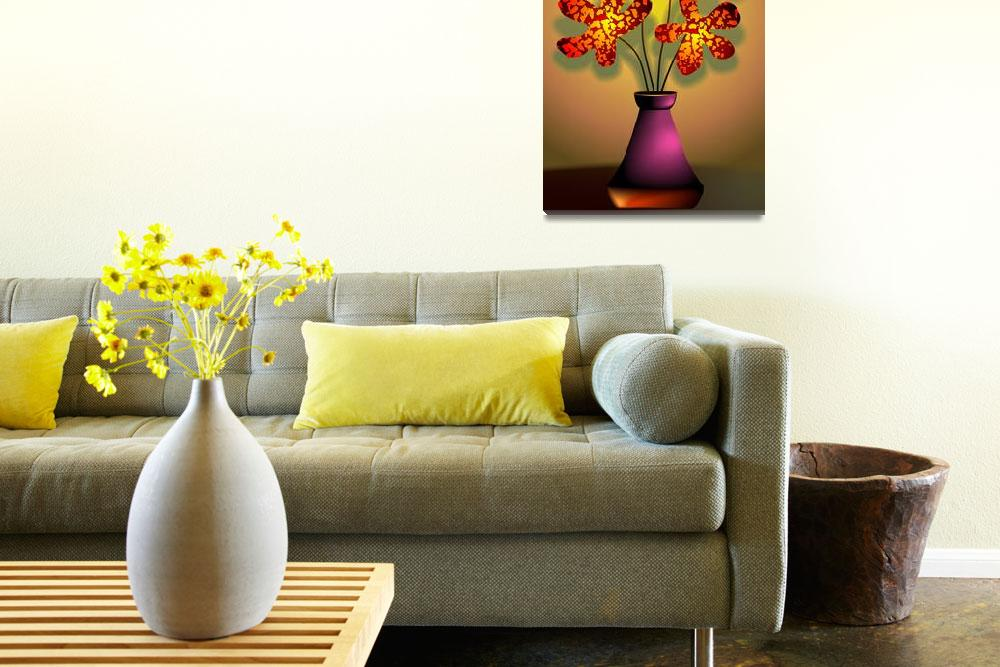 """Ravishing beauty of the flowers in a vase""  (2011) by digitalpainting"