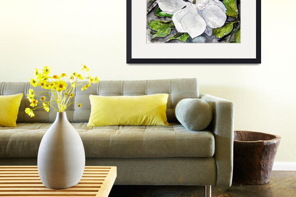 """magnolia flower painting&quot  (2008) by derekmccrea"