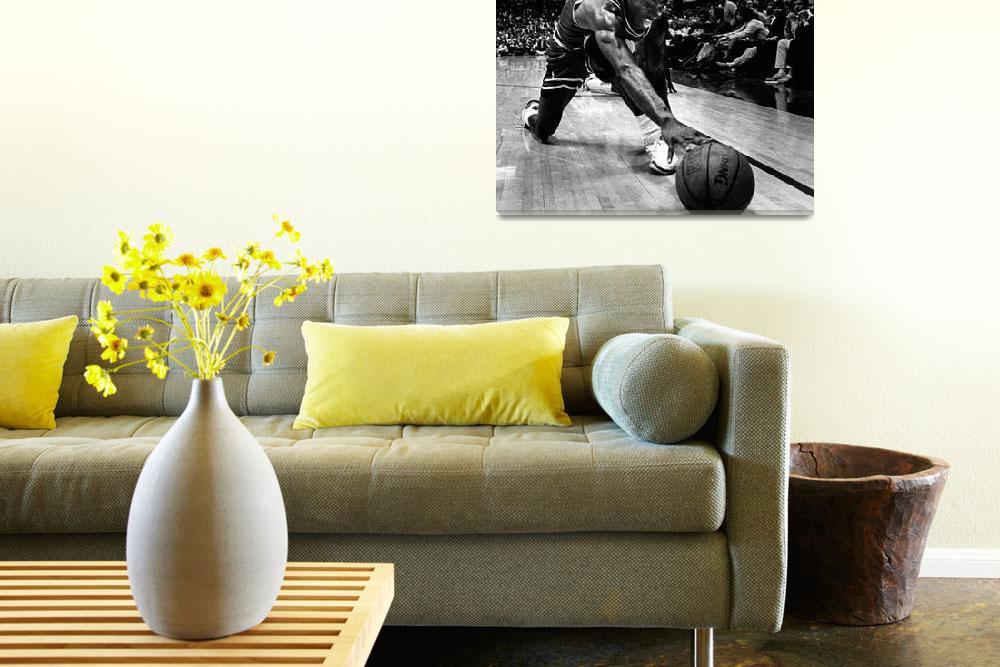 """Michael Jordan reaches for the ball&quot  by RetroImagesArchive"