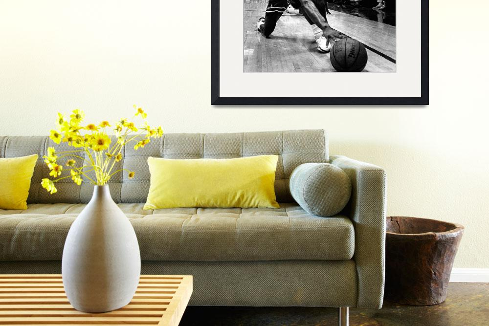 """""""Michael Jordan reaches for the ball""""  by RetroImagesArchive"""