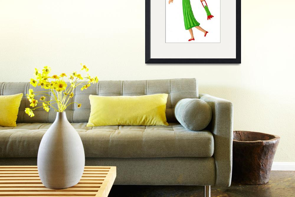 """""""Celery Woman&quot  (2007) by AmyVangsgard"""