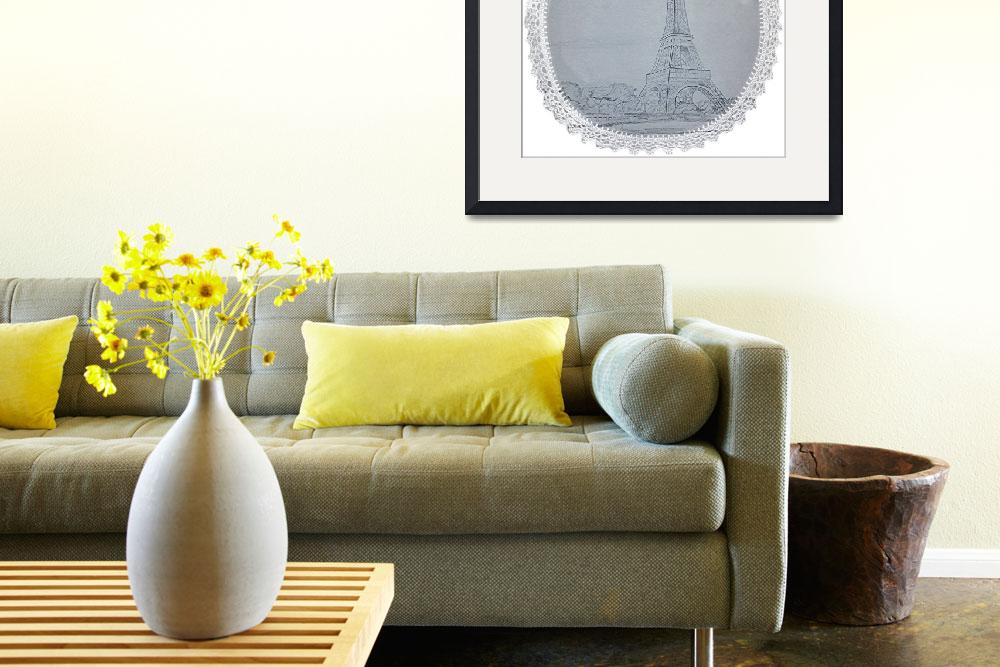 """""""Eiffel Tower Doily&quot  (2014) by Kwayne"""