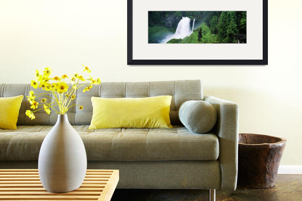 """""""Waterfall in lush green forest&quot  by Panoramic_Images"""
