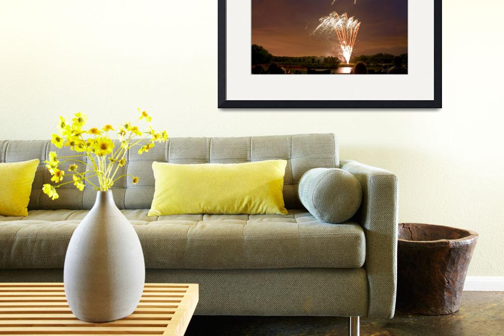 """""""Fireworks over Water&quot  (2008) by QuentinFennessy"""