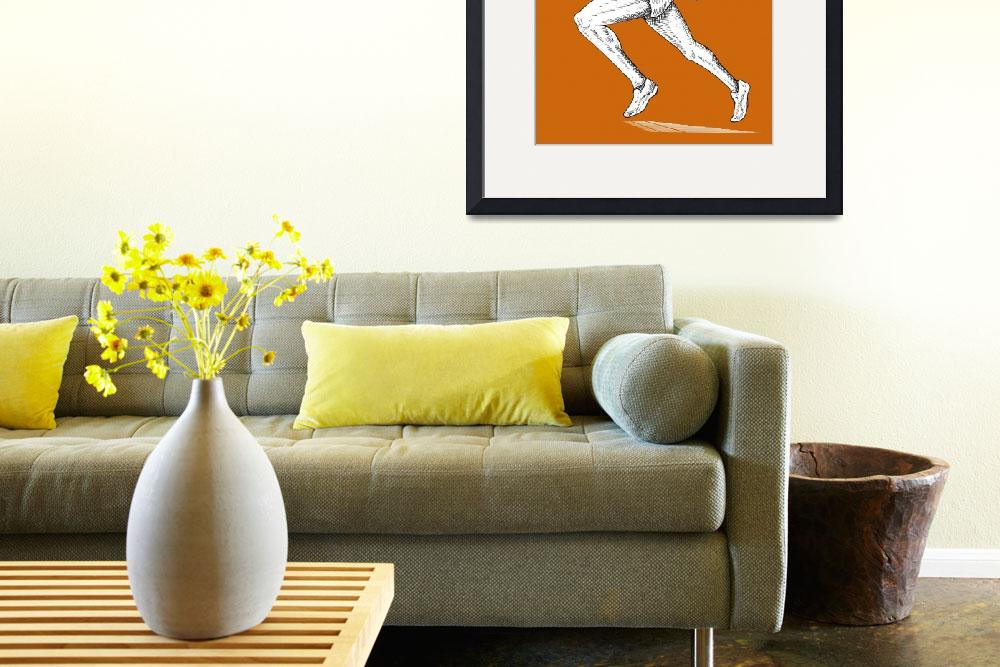 """""""track and field athlete running&quot  (2013) by patrimonio"""