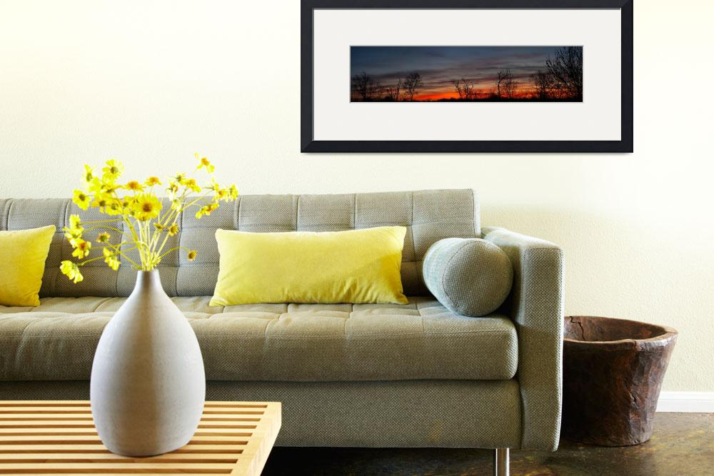 """""""April Dawn Sky Panorama&quot  (2010) by jimcrotty"""