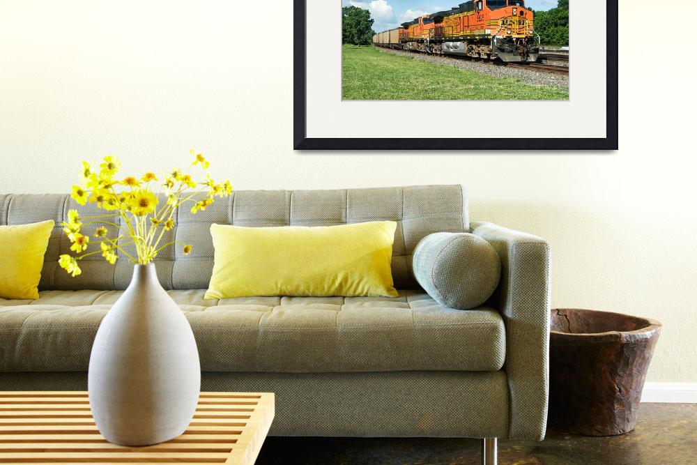 """""""BNSF Coal Train&quot  (2010) by StonePhotos"""