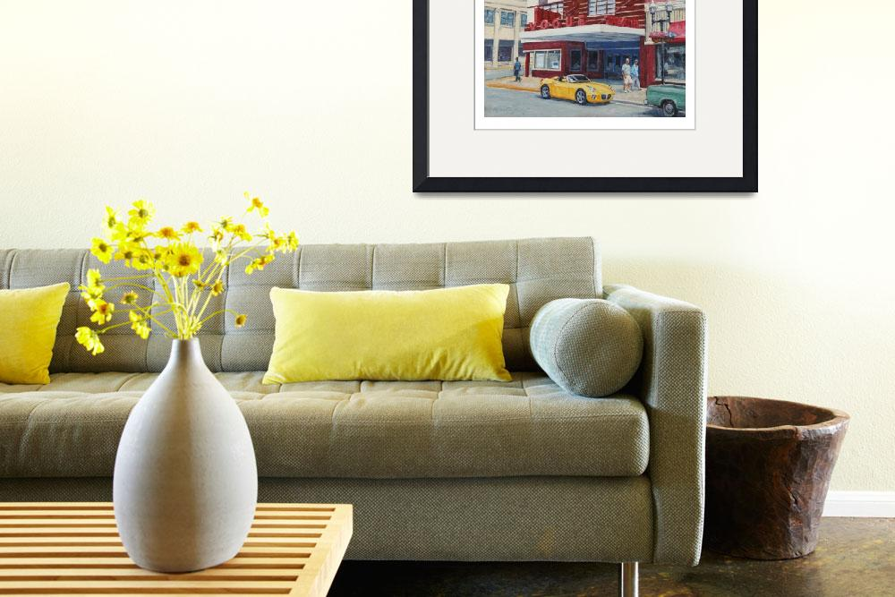 """""""Yellow car at the Vogue&quot  (2009) by davidwesterfield"""