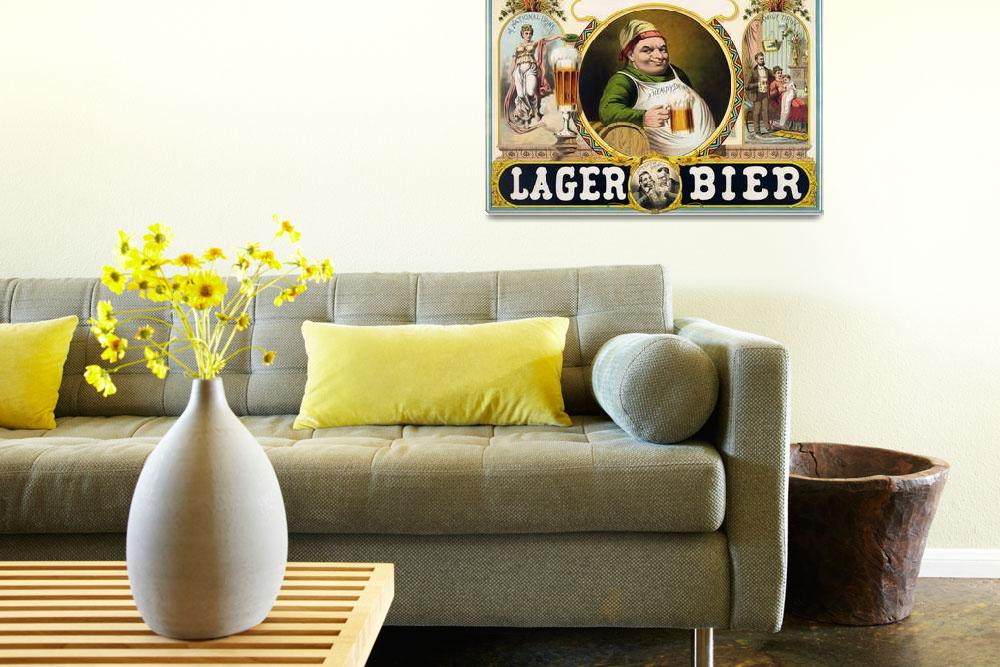 """""""Vintage Lager Bier Advertisement&quot  by Alleycatshirts"""