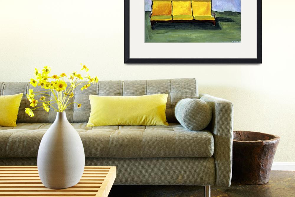 """""""The Yellow Couch""""  (2007) by Rudy"""