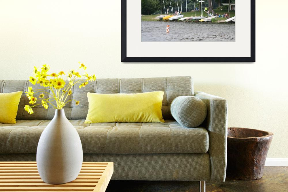 """""""Sailboats On The Shore&quot  (2013) by copperboxphotography"""