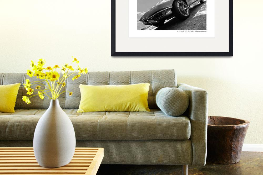 """""""1966 Corvette BW Poster&quot  (2017) by Automotography"""