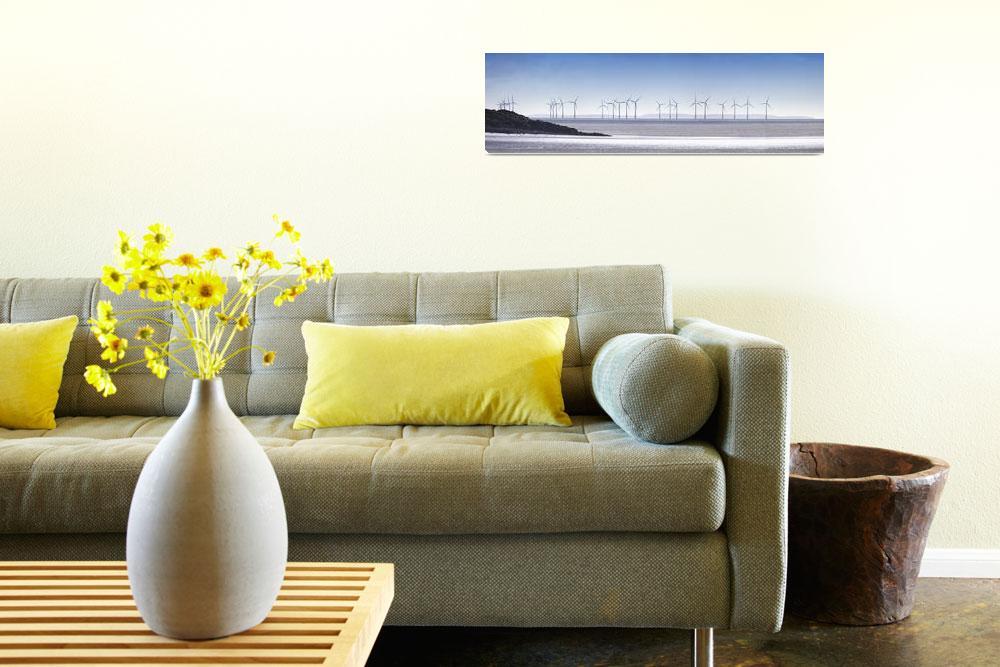 """Wind Turbines Along The Coast,  Solway Firth, Dumf""  by DesignPics"