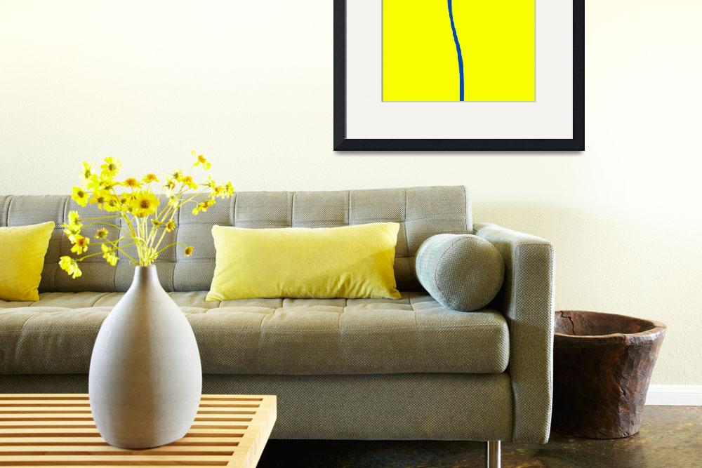 """""""COLOR FIELD, #4, BLUE BAND on YELLOW&quot  (2013) by nawfalnur"""