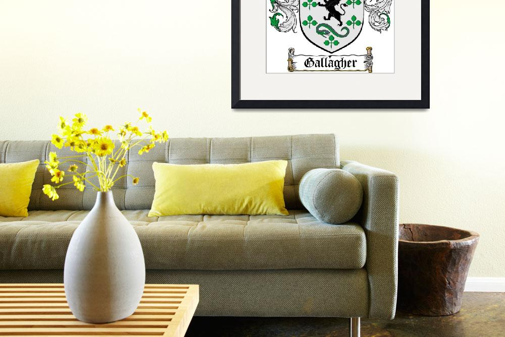 """""""GALLAGHER FAMILY CREST - COAT OF ARMS""""  by coatofarms"""