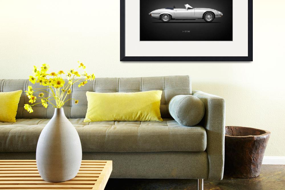 """""""The E-Type Roadster&quot  by mark-rogan"""