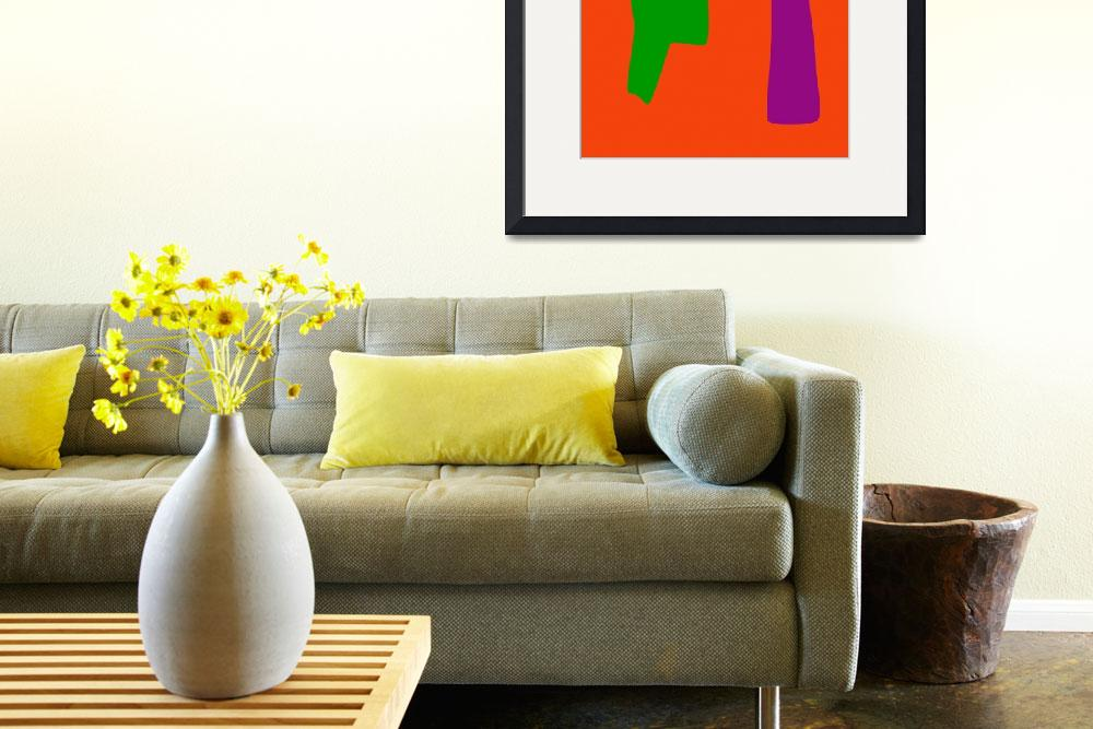 """""""Green and Purple with Orange Background&quot  by masabo"""