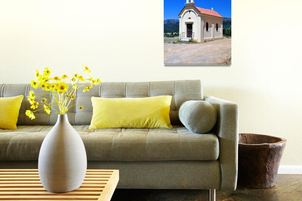 """Greek chapel, Crete.""  by FernandoBarozza"