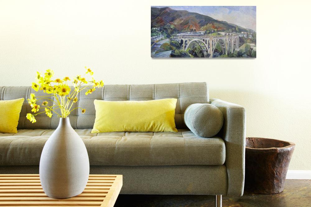"""Colorado Street Bridge, Pasadena""  (2013) by letspainttv"