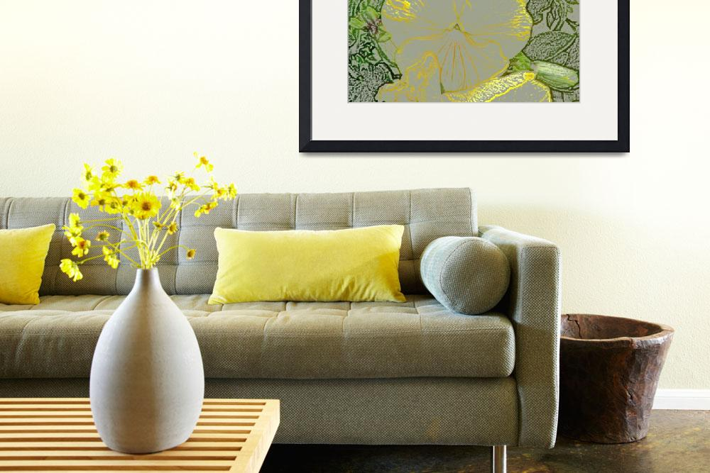 """""""Yellow Pansy 025-1 colored pencil&quot  (2008) by Bonniemarie"""