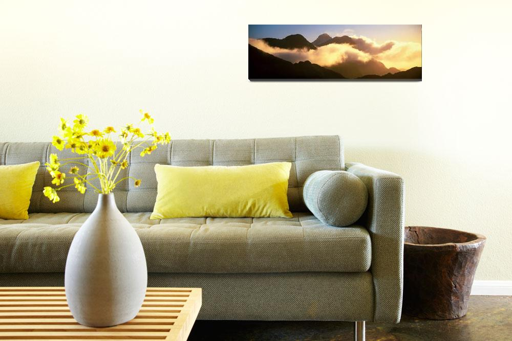 """""""Mount Pembroke Fiordland National Park New Zealan&quot  by Panoramic_Images"""