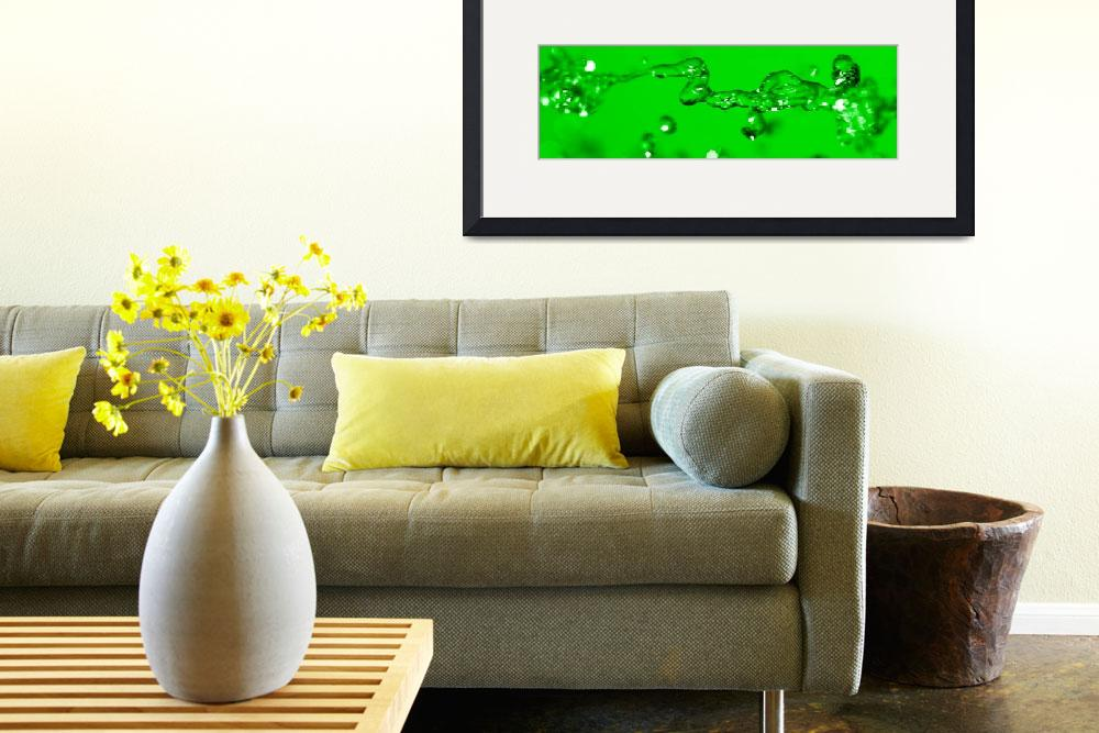 """""""Horizontal Green&quot  by HomeroCampos"""