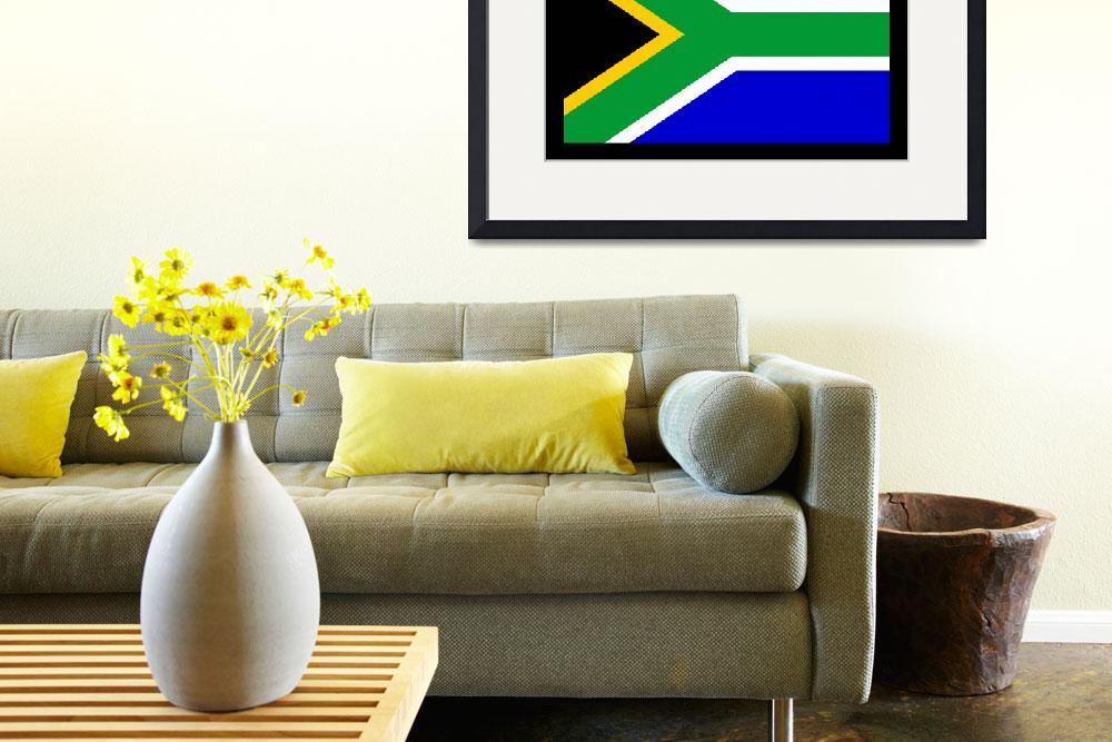 """South Africa Flag&quot  by KWGart"
