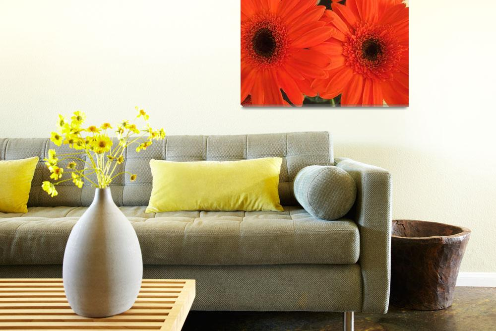 """orange daisies""  (2008) by LauriesCreations"