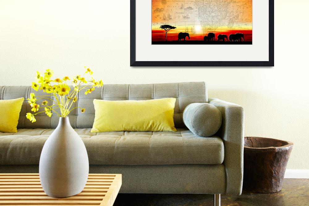 """""""Old World Africa Warm Sunset&quot  (2010) by Art_By_Design_Studio"""