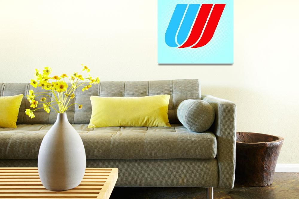 """""""U-United_Airlines""""  by LetterPopArt"""